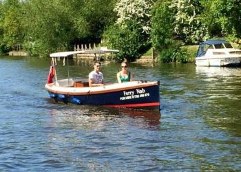 Boat for hire on River Thames