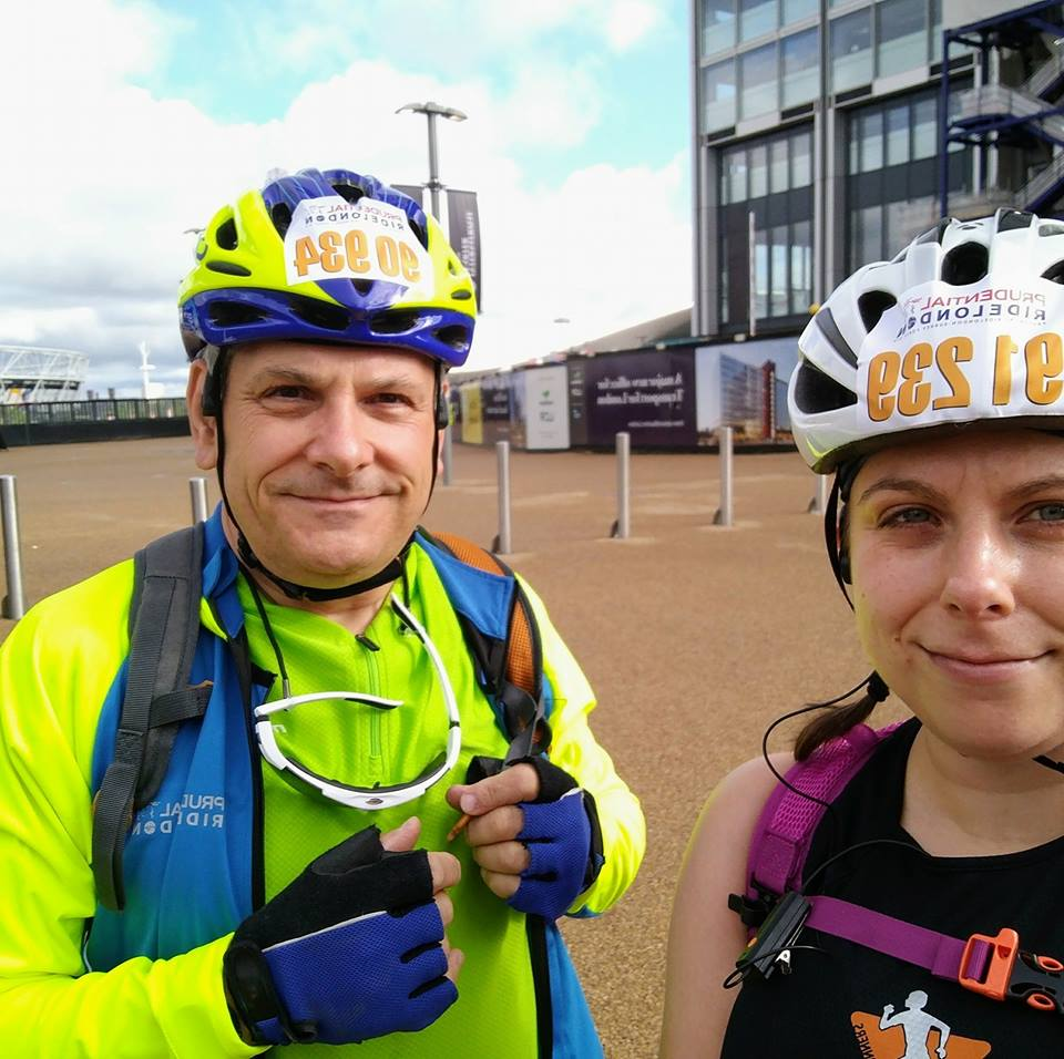 Emily and Graham cycle challenge