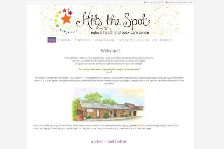 Hits the Spot website